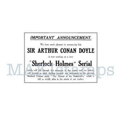 Sherlock Holmes rubber stamp
