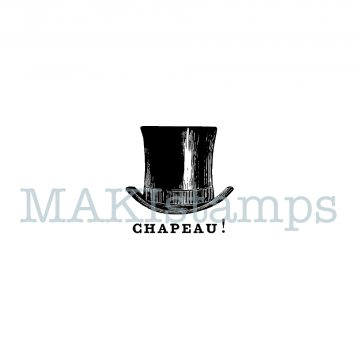 Chapeau! rubber stamp MAKIstamps