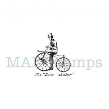 victorian bike rubber stamp MAKIstamps
