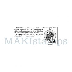 Rubber art stamp saint text stamp MAKIstamps