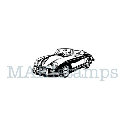 sports car rubber stamp