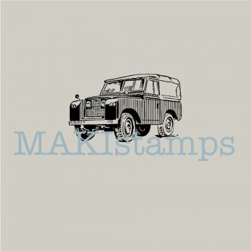 rubber stamp Landrover Defender