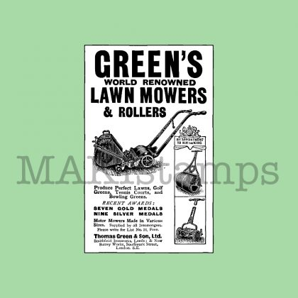 rubber stamp lawn mower MAKIstamps