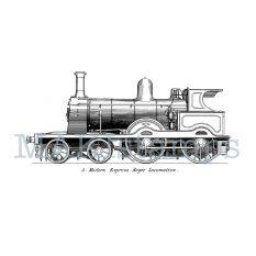 Locomotive rubber stamp MAKIstamps