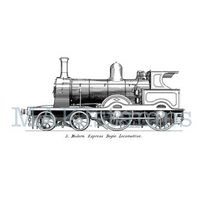 rubber stamp steam train MAKIstamps