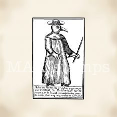 plague doctor rubber stamp