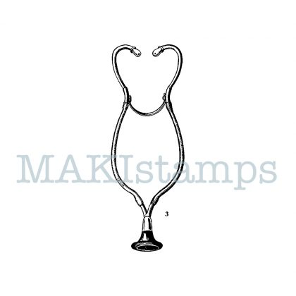 rubber stamp stethoscope