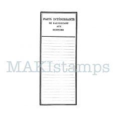 scrapbooking rubber stamp observation chart