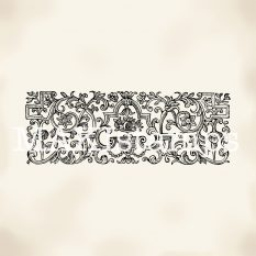 Background rubber stamp floral border rubber stamp MAKIstamps