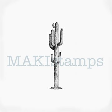 Cactus Saguaro rubber stamp MAKIstamps