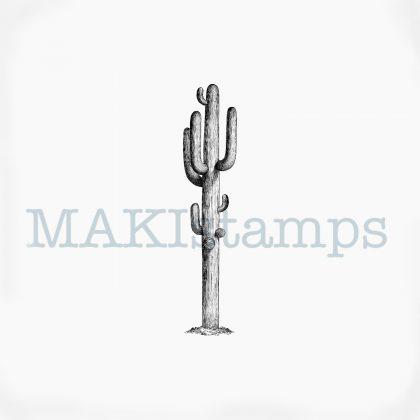Cactus Saguaro rubber stamp MAKIstamps