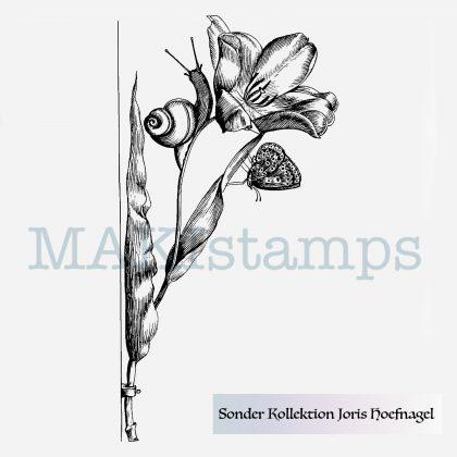 Blumen Stempel nach Vorlagen von Joris Hoefnagel MAKIstamps Sonderkollektion