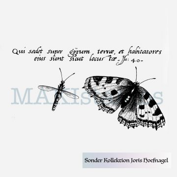 Butterfly rubber stamp from special collection MAKIstamps