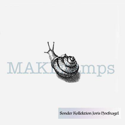rubber stamp garden snail special edition Joris Hoefnagel MAKIstamps