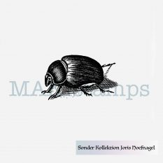 Beetle rubber stamp MAKIstamps special collection Georg Hoefnagel