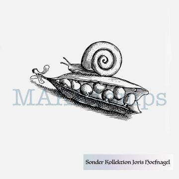 Rubber stamp garden snail MAKIstamps special collection
