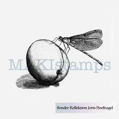 Dragonfly rubber stamp from special rubber stamp collection Joris Hoefnagel MAKIstamps