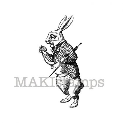 bunny stamp alice in wonderland
