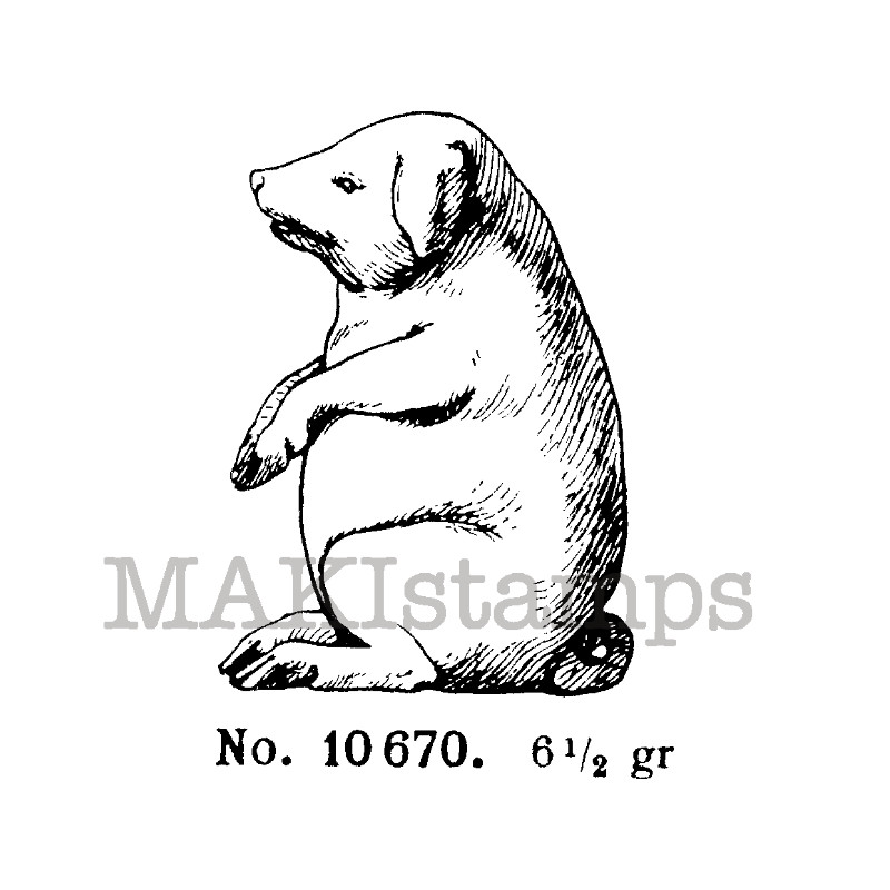 good luck pig pig rubber stamp 130608 makistamps